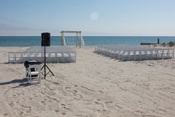 Beach Wedding Ceremony Audio Visual