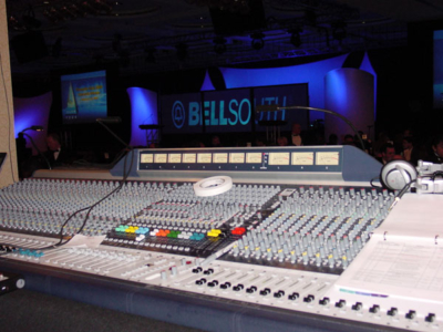Large format mixing console