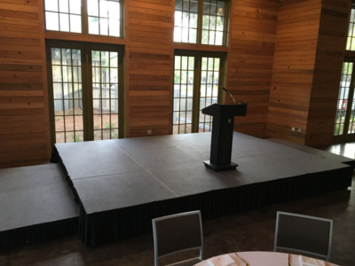 30A Corporate Meeting Stage and Podium